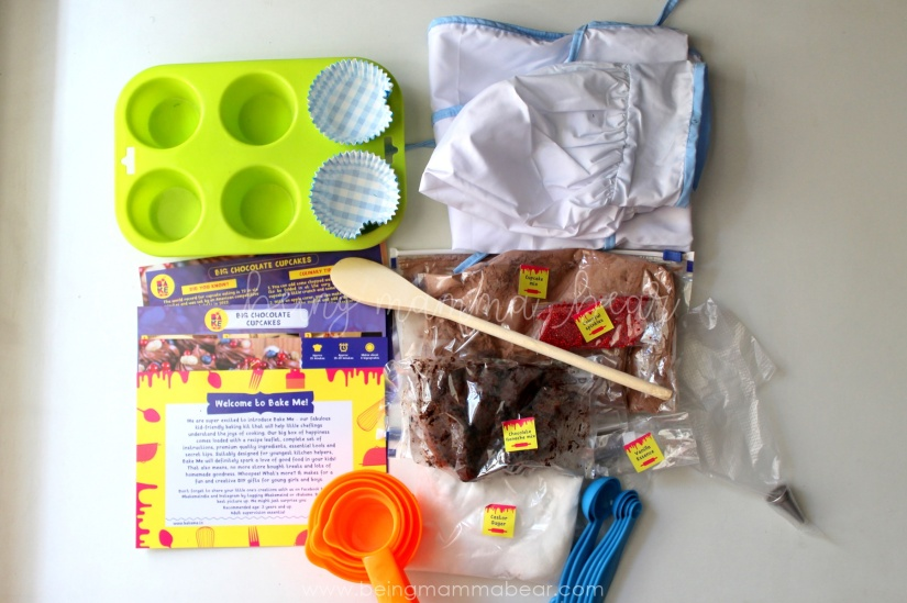 Being Mamma Bear Bake Me India Big Chocolate Cupcakes Kit Review 3