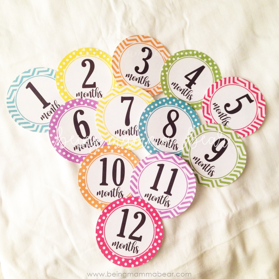 Being Mamma Bear - Getting Ready for Baby - Things you should buy - Memory Keeping Milestone stickers