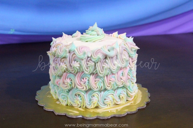Being Mamma Bear - Unicorn Theme First Birthday Rainbow Cake with Vanilla Buttercream frosting 14