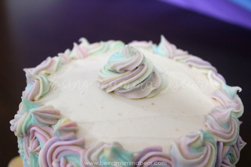 Being Mamma Bear - Unicorn Theme First Birthday Rainbow Cake with Vanilla Buttercream frosting 17