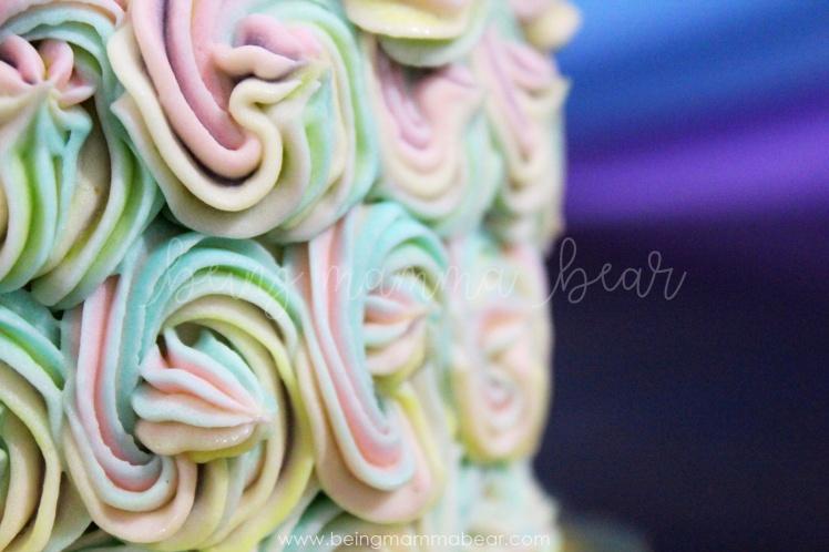 Being Mamma Bear - Unicorn Theme First Birthday Rainbow Cake with Vanilla Buttercream frosting 21