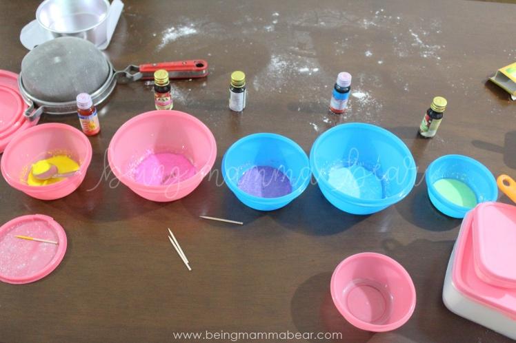 Being Mamma Bear - Unicorn Theme First Birthday Rainbow Cake with Vanilla Buttercream frosting 3