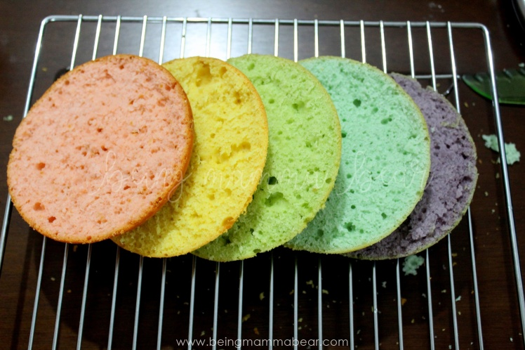 Being Mamma Bear - Unicorn Theme First Birthday Rainbow Cake with Vanilla Buttercream frosting 4