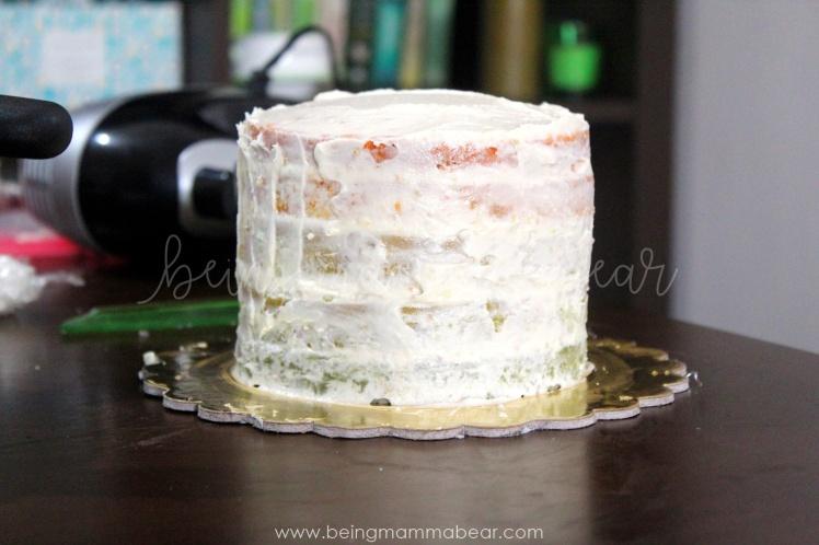 Being Mamma Bear - Unicorn Theme First Birthday Rainbow Cake with Vanilla Buttercream frosting 5