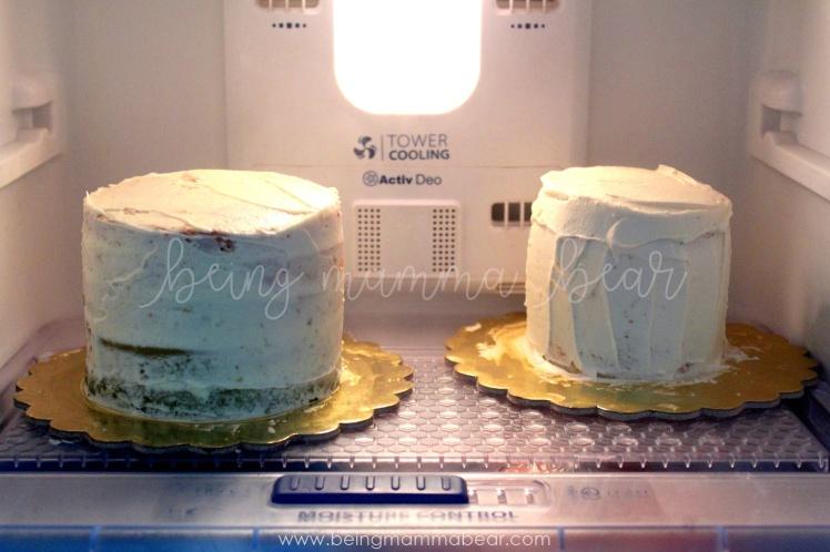 Being Mamma Bear - Unicorn Theme First Birthday Rainbow Cake with Vanilla Buttercream frosting 6