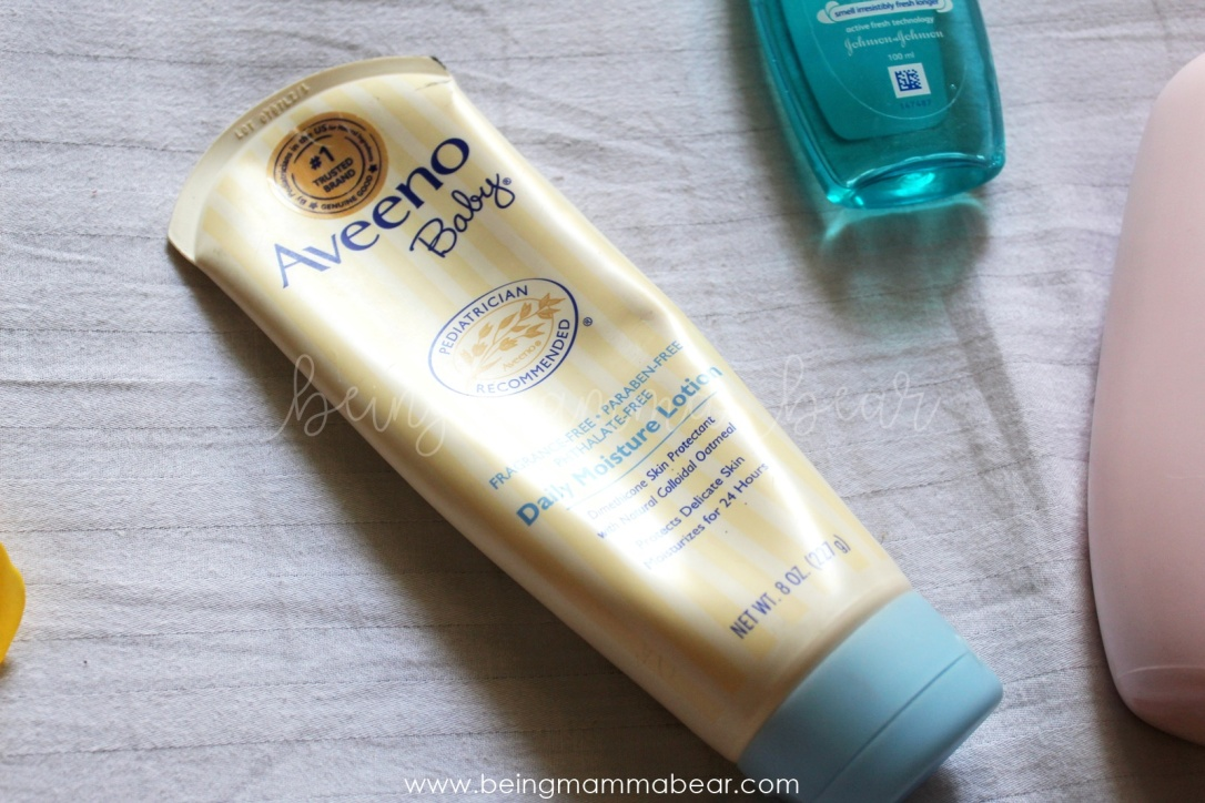 Being Mamma Bear Aveeno Daily Moisture Lotion Review Johnson & Johnson 16