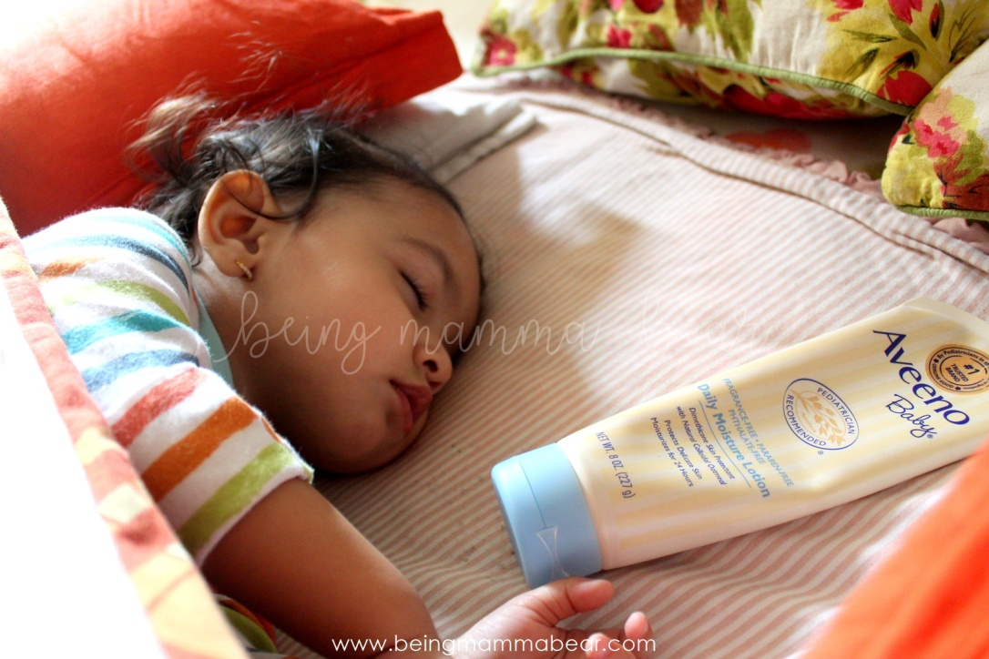 Being Mamma Bear Aveeno Daily Moisture Lotion Review Johnson & Johnson 4