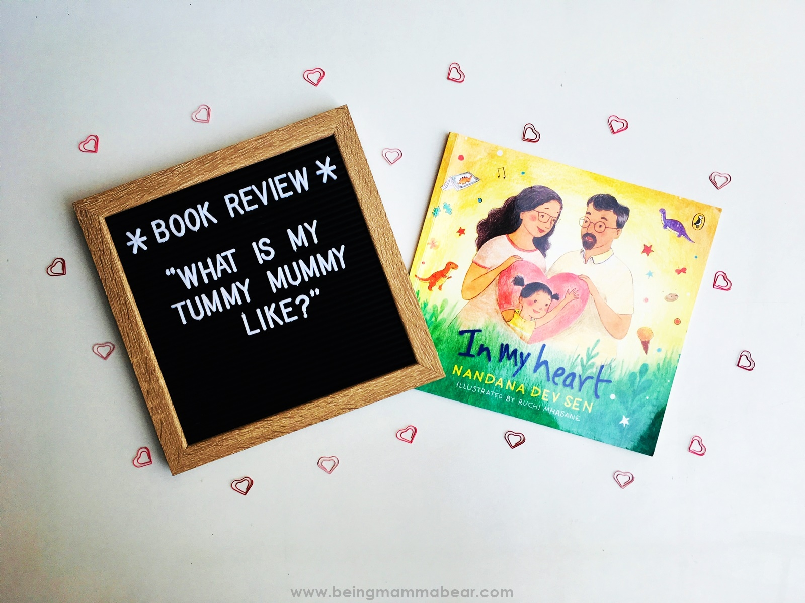 Being Mamma Bear Book Review In My Heart Nandana Dev Sen Ruchi Mhasane Puffin Books Penguin Random House - Featured